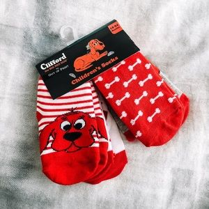 Other - 12-24 month Clifford baby socks with grips